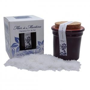 Flor de Martins - feinstes Flor de Sal - Behälter lila