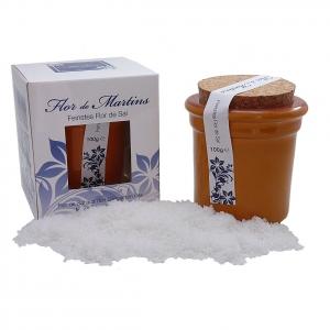 Flor de Martins - feinstes Flor de Sal - Behälter orange