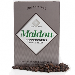 Maldon whole black peppercorns