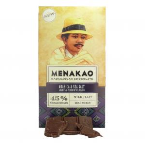 Menakao - Schokolade Kaffeebohnen mit Fleur de Sel - MHD 07-21