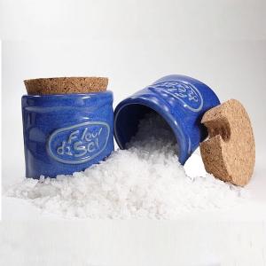 Pot Fleur de Sel bleue - inklusive 1 Holzschäufelchen