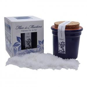 Flor de Martins - feinstes Flor de Sal - Behälter blau