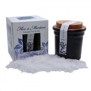 Flor de Martins - feinstes Flor de Sal - Behälter schwarz