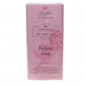 Zartbitterschokolade mit rosa Pfeffer