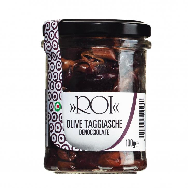Olive Taggiasche asciutte - Oliven entsteint und getrocknet