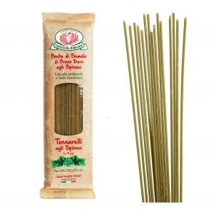 Tonnarelli - italienische Nudeln mit Spinat