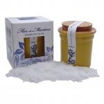 Flor de Martins - feinstes Flor de Sal - Behälter gelb