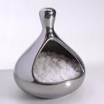 Salzbehälter für feinstes Salz in Chrome-Optik