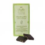 Zartbitterschokolade mit Pistazien und rosa Salz