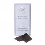 Zartbitterschokolade mit Spritzgebäck und Fleur de Sel