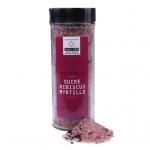 Sucre Hibiscus-Myrtille - Rohrzucker mit Hibiskusblüten