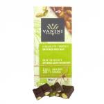 Zartbitterschokolade mit gesalzenen Pistazien