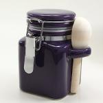 Salzbehälter Bügelverschluss mit Löffel in lila - groß
