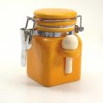 Salzbehälter Bügelverschluss mit Löffel in orange - klein