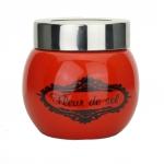Salzbehälter kugelform für Fleur de Sel - Rot